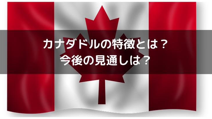カナダドルの特徴とは?今後の見通しは?