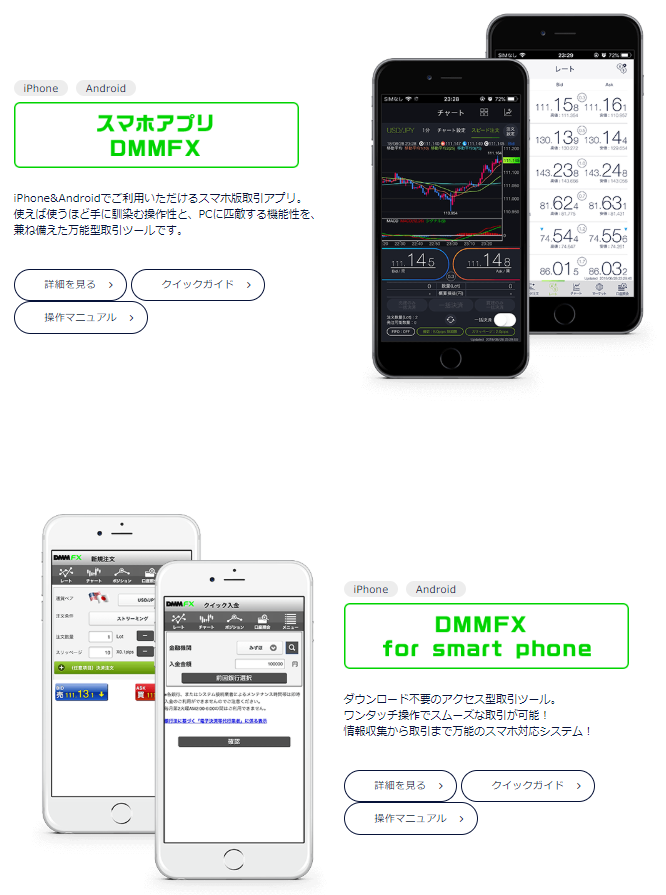 DMMFX-スマホ版取引ツール