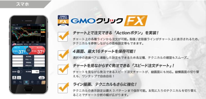 GMOクリック証券の取引ツール(スマホ)