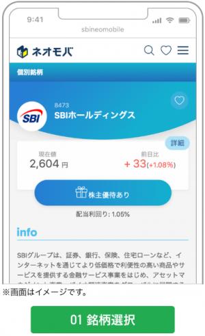 SBIネオモバイル証券(ネオモバ)-注文1