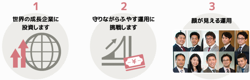 ひふみワールド+(プラス)の特徴