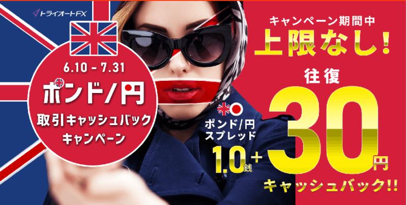 トライオートFX-ポンド円のキャッシュバックキャンペーン1