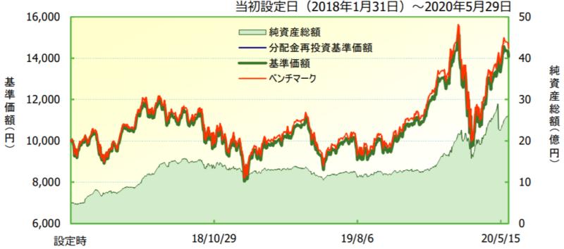 iFreeNEXT FANG+インデックスの特徴-基準価額・純資産の推移